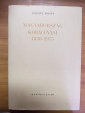 Magyarország kormányai 1848-1975 - Bölöny József