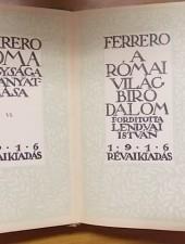 Ferrero Róma nagysága és hanyatlása VI.